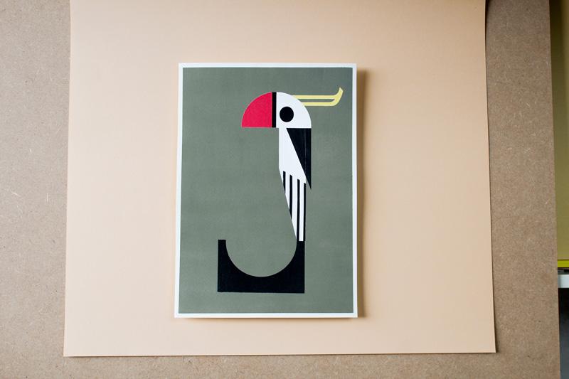 peintire graphique au pochoir par Camille Epplin