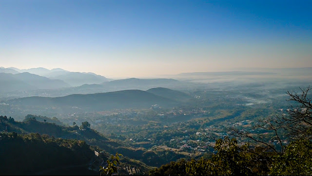 Landscape view of Mussoorie