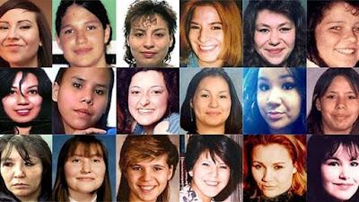 collage de muchas mujeres desaparecidas en canada