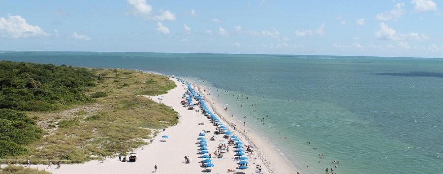 La playa en Cape Florida
