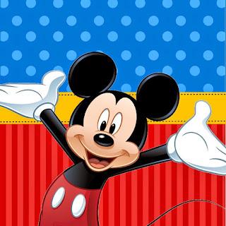 Mickey en Azul y Rojo: Kit para Fiestas para Imprimir Gratis.