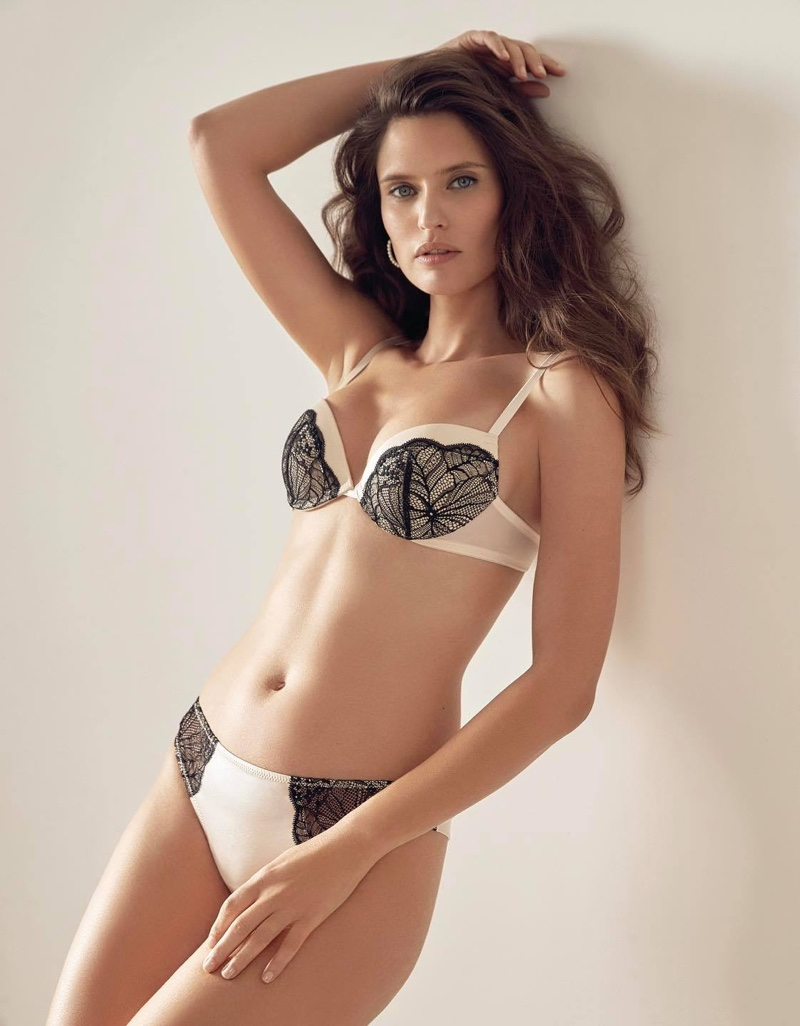 Italian lingerie brand Yamamay features Bianca Balti in spring 2021 campaign.