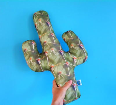 Cactus Cushion using Spoonflower fabric