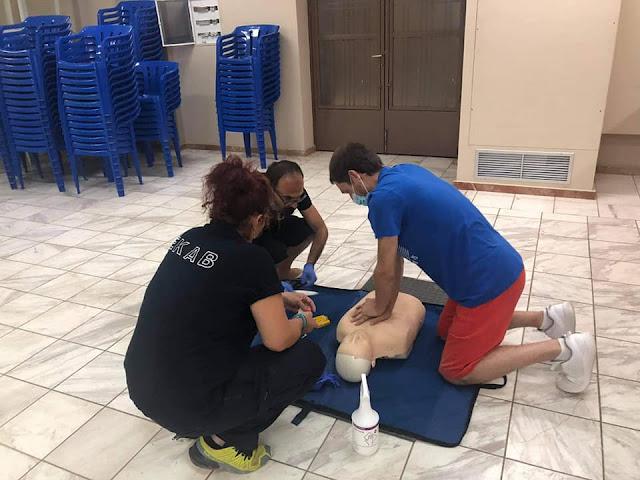 Εκπαίδευση στην καρδιοπνευμονική αναζωογόνηση από το ΕΚΑΒ Αργολίδας στο Κιβέρι