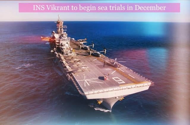 Aircaft Carrier INS Vikrant Sea Trails