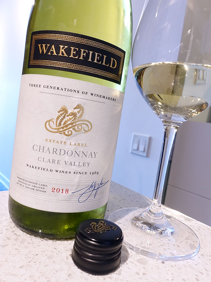 Wakefield Clare Valley Estate Chardonnay 2018 (88 pts)
