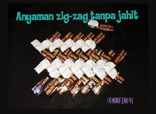 Anyaman zig-zag tanpa jahit