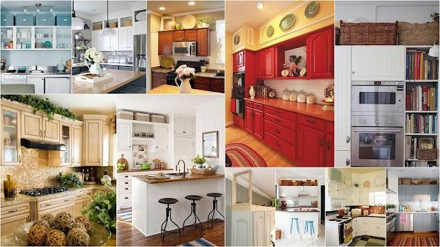 5 Τρόποι για να αξιοποιήσετε το κενό πάνω από τα ντουλάπια της κουζίνας