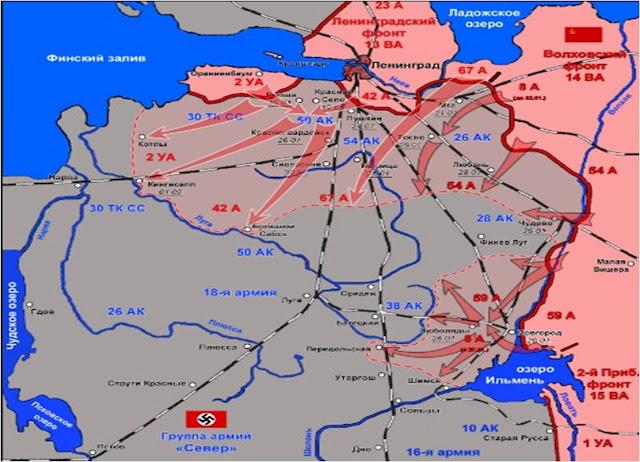 Soviet advances until the 31st of January