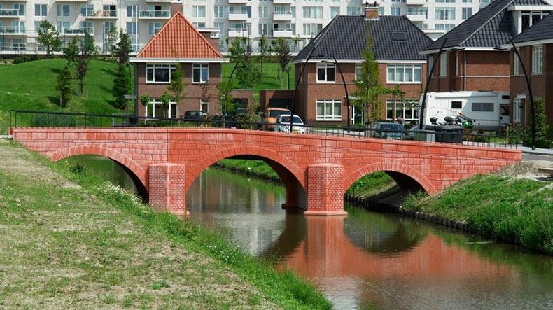 Los puentes de los billetes del Euro en la vida real