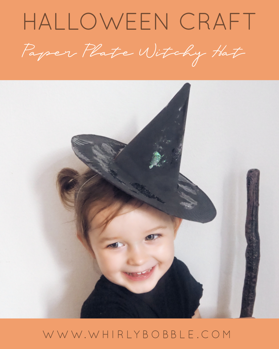 Halloween craft DIY Toddler witches hat