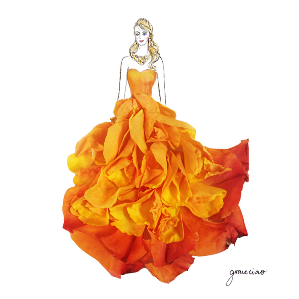 18-Orange-Rose-Nature-and-Grace-Ciao-Design-and-Draw-Dresses-with-Petals-www-designstack-co