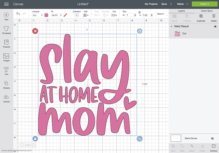 Slay at Home Mom Shirt with Free Cut File