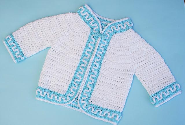 6 - Crochet Imagen Chaqueta a crochet ribeteada con puntada mosaico por Majovel Crochet