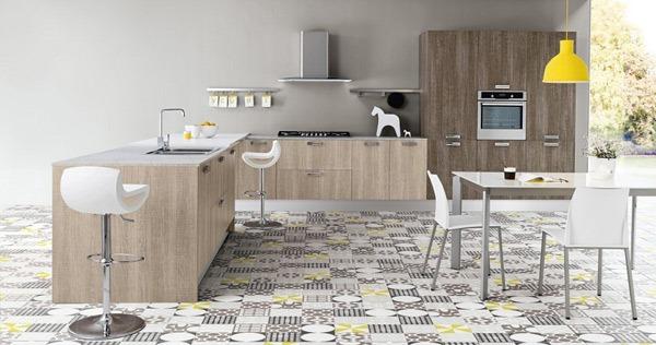 Desain Dapur Modern Dengan Tema Kayu