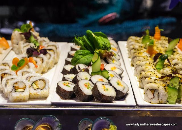 Sushi Rolls in Medley Pullman Dubai
