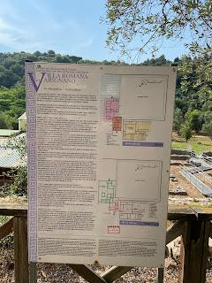 Varignano Roman Villa - Informational sign - three phases of the villa