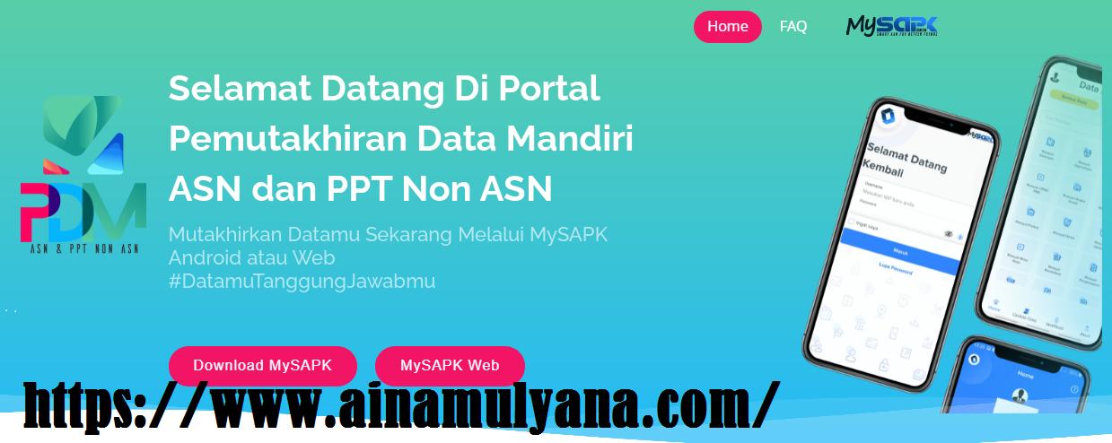 Cara Login dan Update Data Melalui Aplikasi MySPAK BKN Versi Web (Aplikasi My SPAK BKN Versi Web)