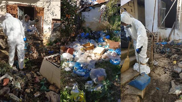 Σπίτι εστία μόλυνσης στο Άργος - Παρέμβαση Εισαγγελέα - Επιχείρηση συνεργείων του Δήμου