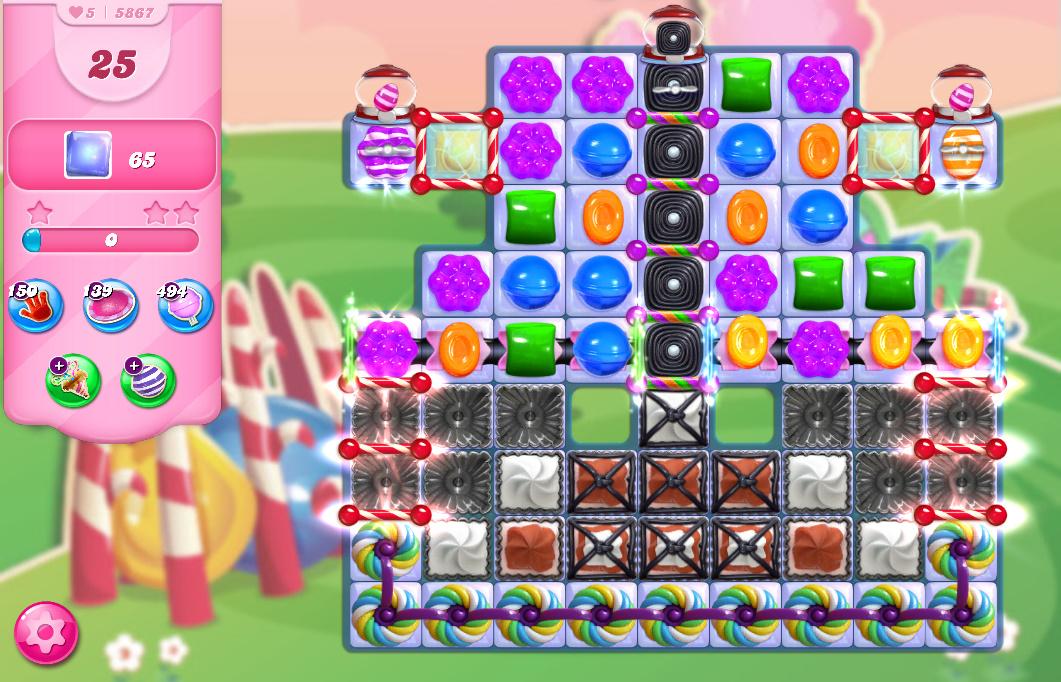 Candy Crush Saga level 5867