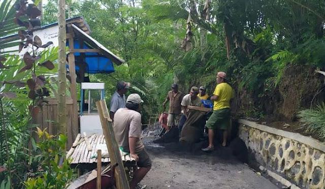 Pembangunan TPT menuju lokasi wisata Tumpak Sewu