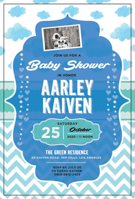 Baby Shower Invitation Card - BS Card 006