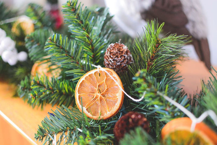 Festive DIY Dried Orange Garland from The Salty Pot.