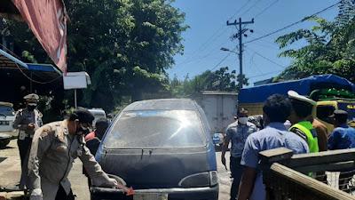 Mobil Angkot Terbakar di Tebingtinggi, 3 Pelajar Alami Luka Bakar