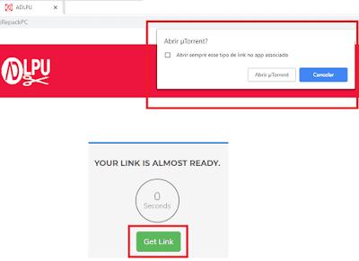 Como baixar no site! Imagem Exemplo Encurtador link torrent