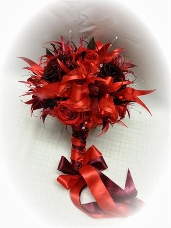 Bouquets y Ramos de Bodas Color Rojo, parte 8
