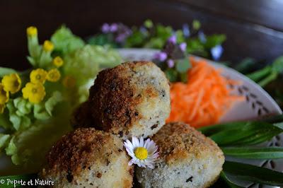 Boulettes à la pomme de terre et au plantain © Popote et Nature