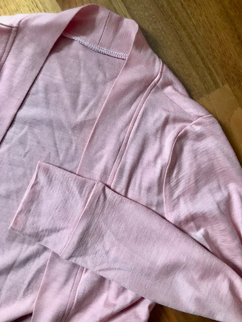 Diary of a Chain Stitcher: Helen's Closet Blackwood Cardigan in Rose Pink Merino from The Fabric Store