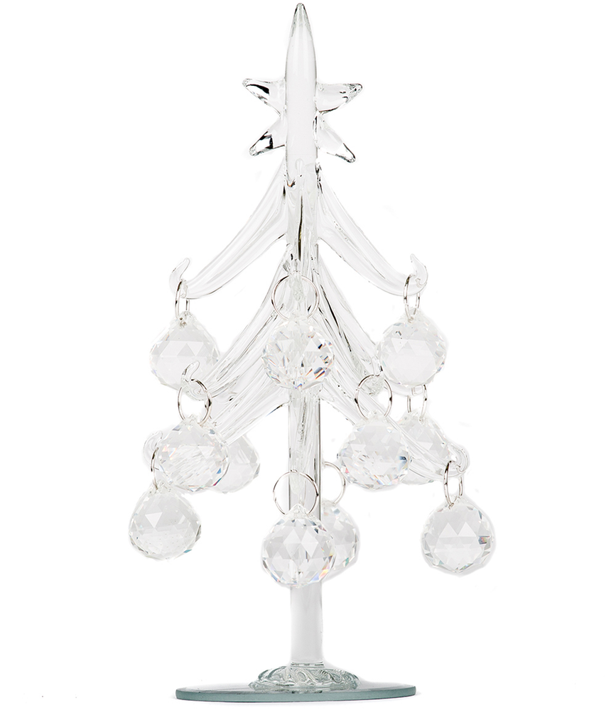 BOWRING MINI TREE WITH 12 ORNAMENTS