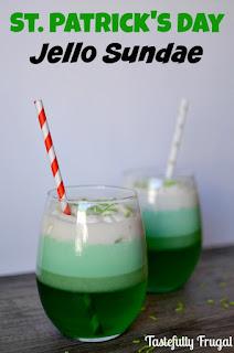St. Patrick's Day Jello Sundae