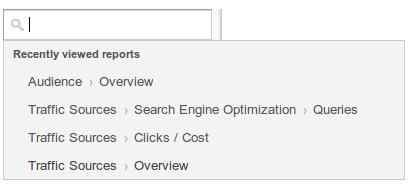 búsqueda analytics