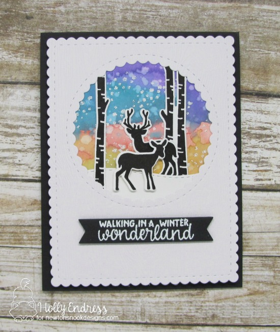 Winter Wonderland Card by Holly Endress | Serene Silhouettes Stamp set by Newton's Nook Designs #newtonsnook #handmade