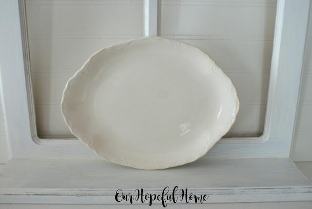 vintage fluted ironstone platter