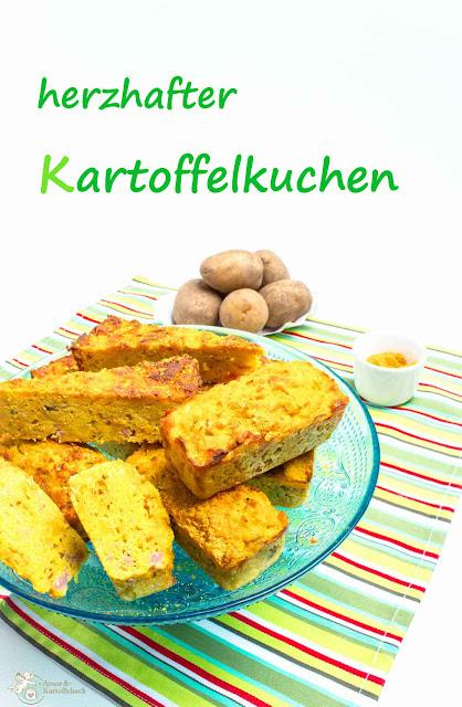 Kartoffeltorte mit Rosmarin und Salami