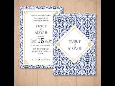 contoh undangan pernikahan dalam bahasa inggris dan artinya