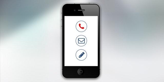 form kontak di hape (mobile)