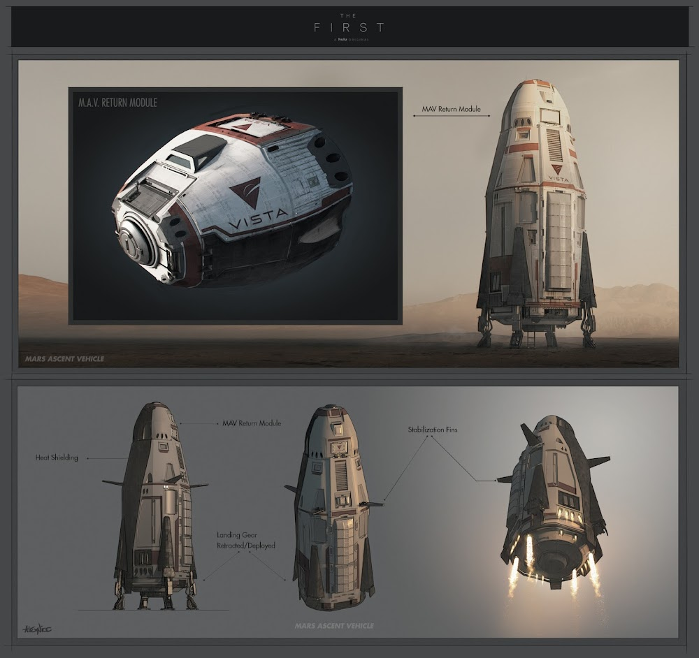 Mars ascent vehicle concept by Alex Nice (infographic)