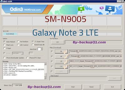 سوفت وير هاتف Galaxy Note 3 LTE موديل SM-N9005 روم الاصلاح 4 ملفات تحميل مباشر