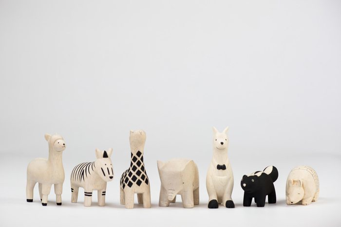 wooden animals from Japan