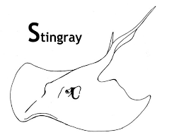 Best Image Of Stingray Coloring Sheet For Kids