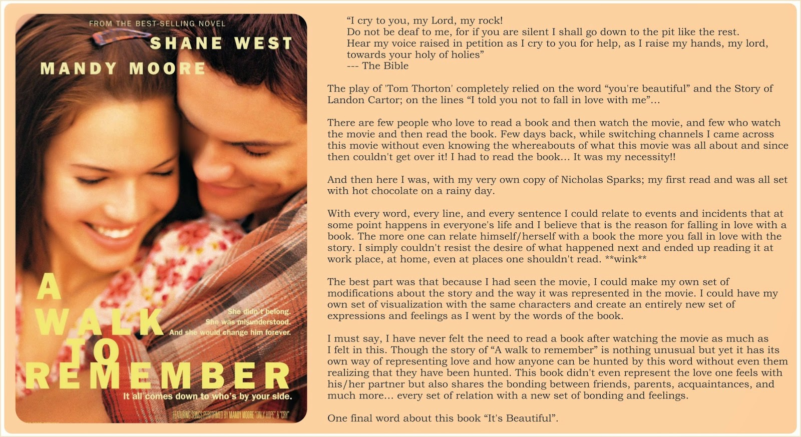 A Walk To Remember Full Book