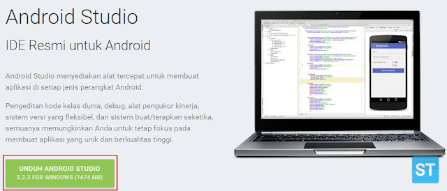 Download The Android Studio Installer