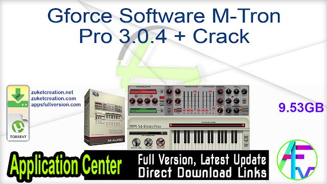 Gforce Software M-Tron Pro 3.0.4 + Crack