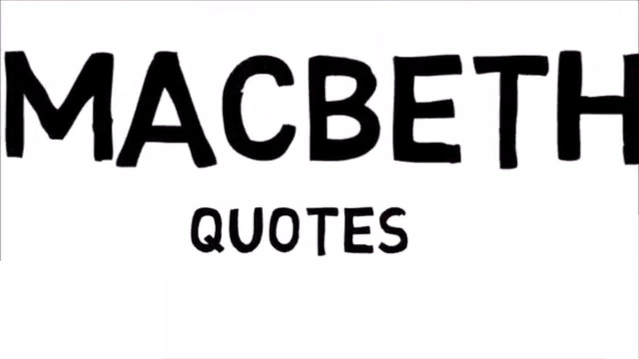 Macbeth Quotes Macbeth Pdf