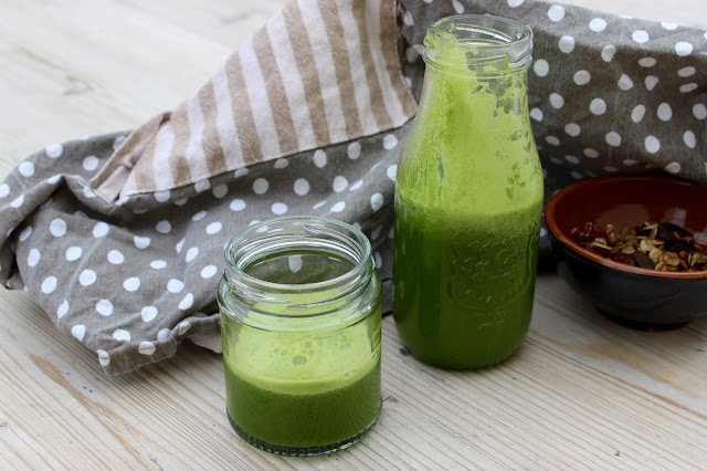 green juice with citrus