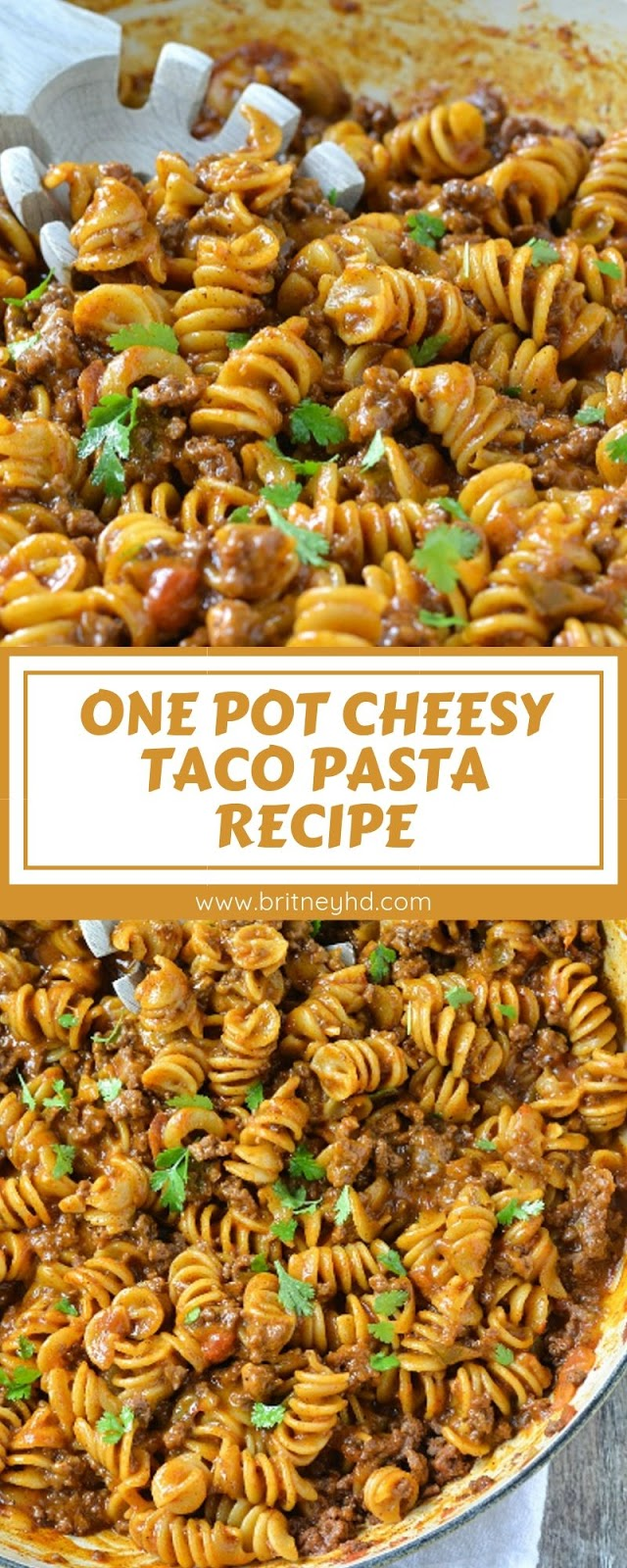 ONE POT CHEESY TACO PASTA RECIPE